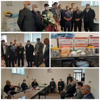 اهدا  تجهیزات حفاظت فردی توسط اتحاديه آهن فروشان به بیمارستان امام حسن